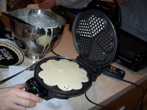 waffle-batter-placed-in-iron