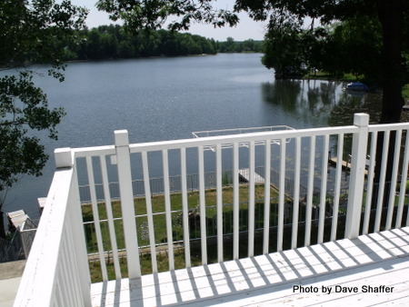 hemingway lake view from deck
