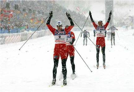 Cross Country Skiing Competition in Norway