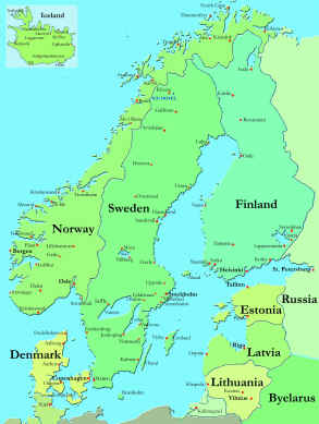 Map Of Norway And Denmark My Blog - Norway map cities