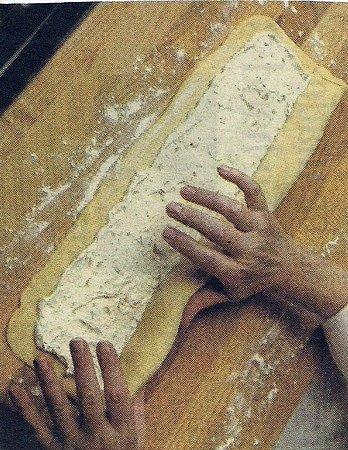 folding meringue filled dough