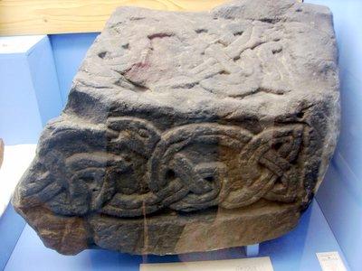 Fragment of Viking hog back tombstone