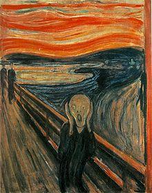 the scream skriket by eward munch